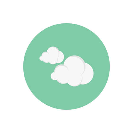 clouds vector flat colour icon