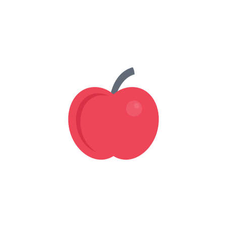 apple vector flat colour icon