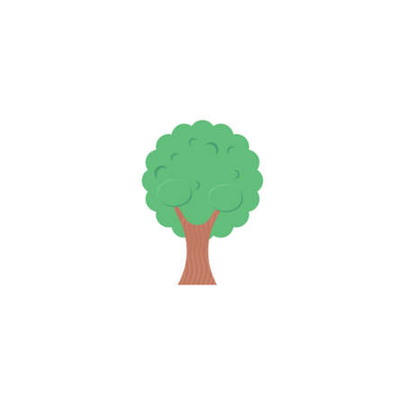 tree vector flat colour icon