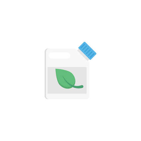 eco can vector flat colour icon