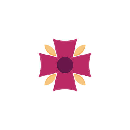 blossom vector flat colour icon