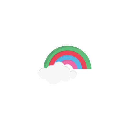 rainbow vector flat colour icon 向量圖像