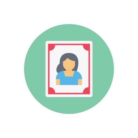 MOM picture vector flat colour icon