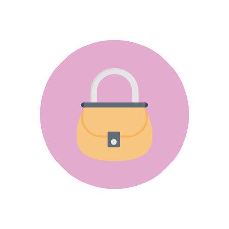 purse vector flat colour icon