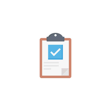 clipboard vector flat colour icon