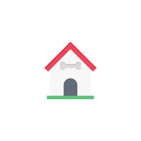 house dog vector flat colour icon