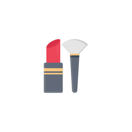 lipstick vector flat colour icon