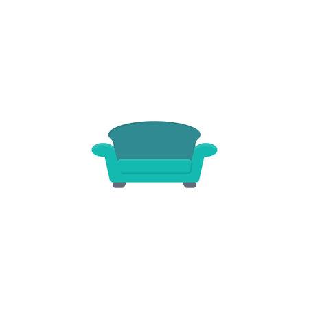 sofa vector flat colour icon Stok Fotoğraf - 162296107