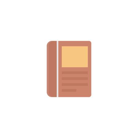 book vector flat colour icon