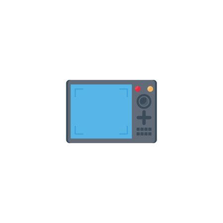 screen vector flat colour icon Stok Fotoğraf - 162296118