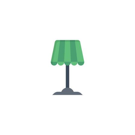 lamp vector flat colour icon Stok Fotoğraf - 162296124