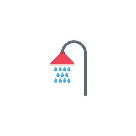 shower vector flat colour icon Çizim