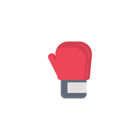 boxing gloves vector flat colour icon
