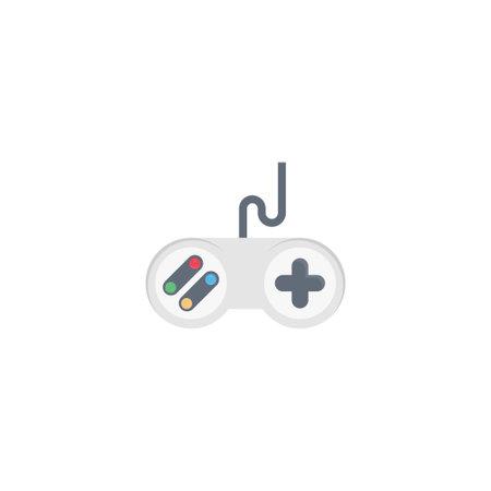 controller vector flat colour icon Çizim