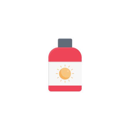 sunblock vector flat colour icon Stok Fotoğraf - 162296138