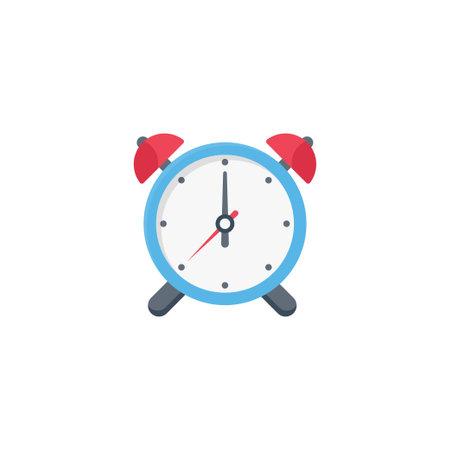 alarm vector flat colour icon