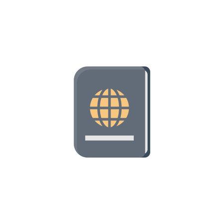 passport vector flat colour icon Stok Fotoğraf - 162296140