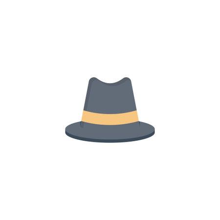 hat vector flat colour icon Stok Fotoğraf - 162296141