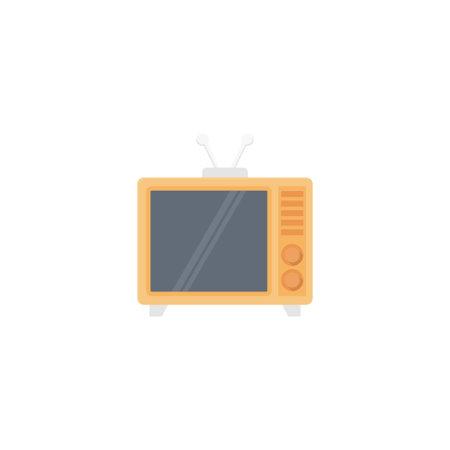 Television vector flat colour icon