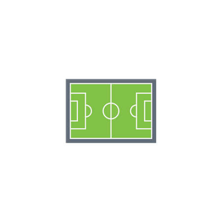 football pitch vector flat colour icon