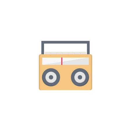 radio vector flat colour icon