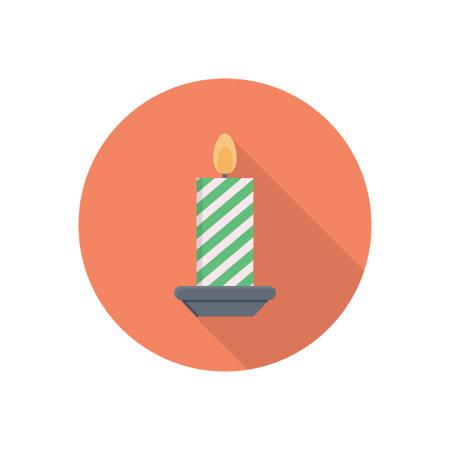candle vector flat colour icon Çizim