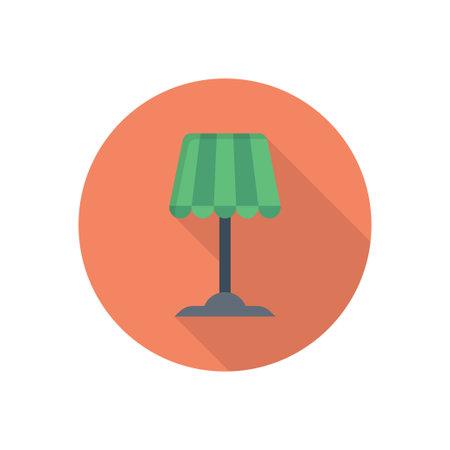 lamp vector flat colour icon