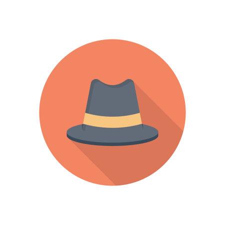 hat vector flat colour icon Çizim