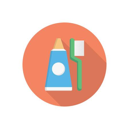 toothpaste vector flat colour icon Çizim