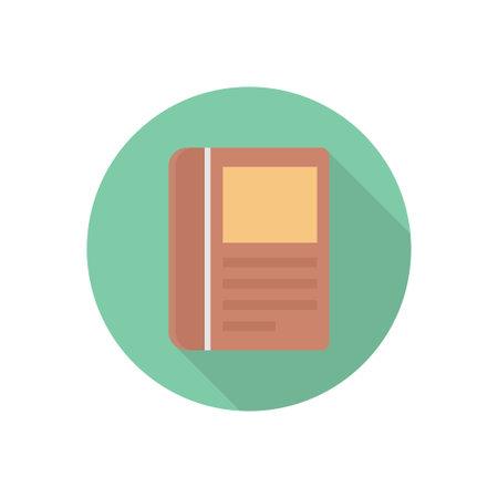book vector flat colour icon Stok Fotoğraf - 162296166