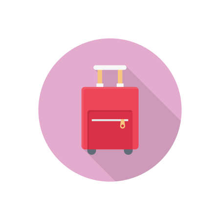 luggage vector flat colour icon