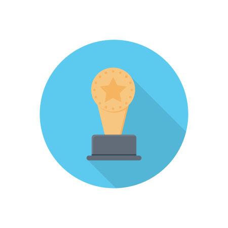 trophy vector flat colour icon