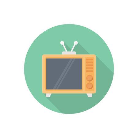 Television vector flat colour icon Stok Fotoğraf - 162296172