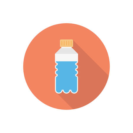 water bottle vector flat colour icon