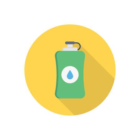 bottle vector flat colour icon Çizim