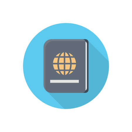 passport vector flat colour icon Çizim