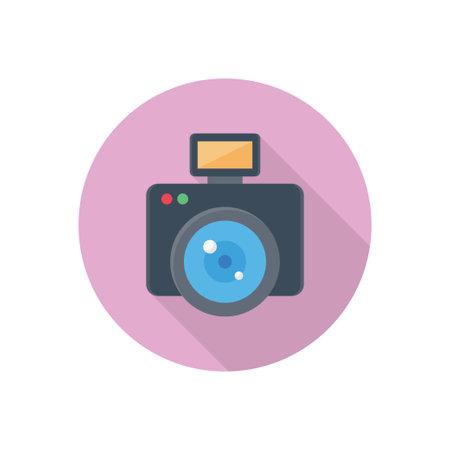 camera vector flat colour icon