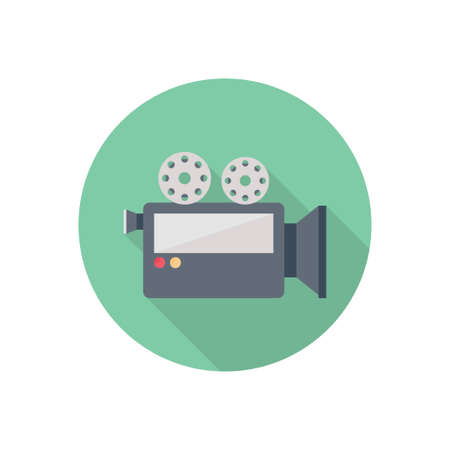 movie vector flat colour icon