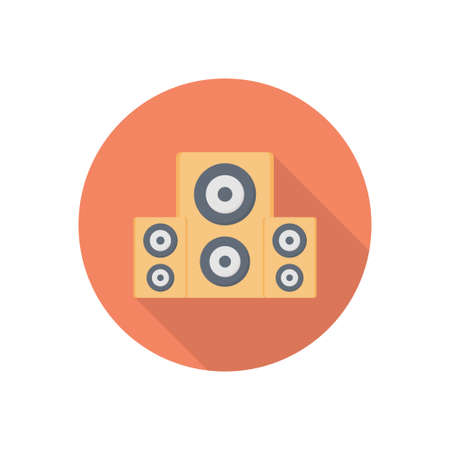 woofer vector flat colour icon