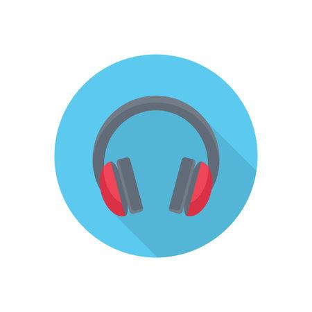 headphone vector flat colour icon