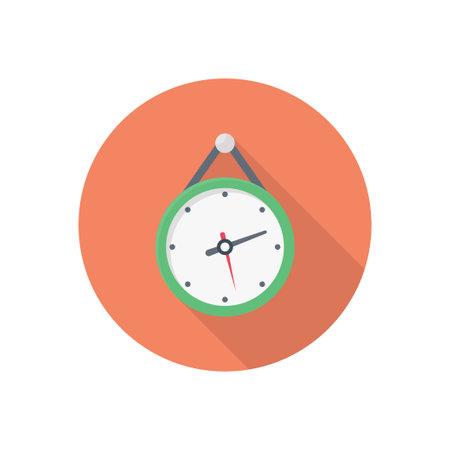 clock vector flat colour icon