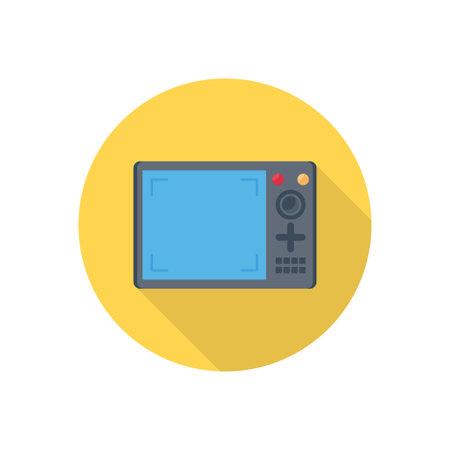 screen vector flat colour icon Çizim