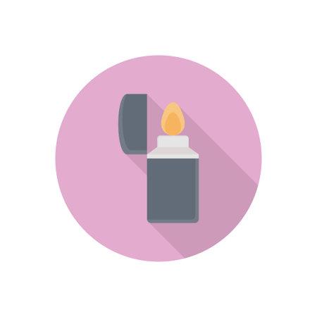 lighter vector flat colour icon