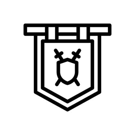viking vector thin line icon