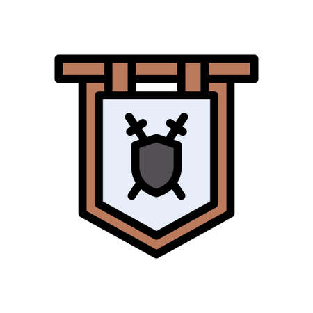 viking vector color line icon