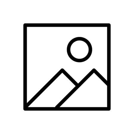 photo vector thin line icon