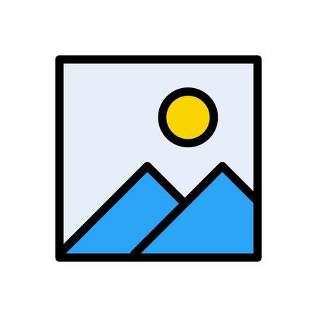 photo vector color line icon