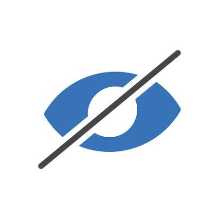 hide vector glyph color icon 向量圖像