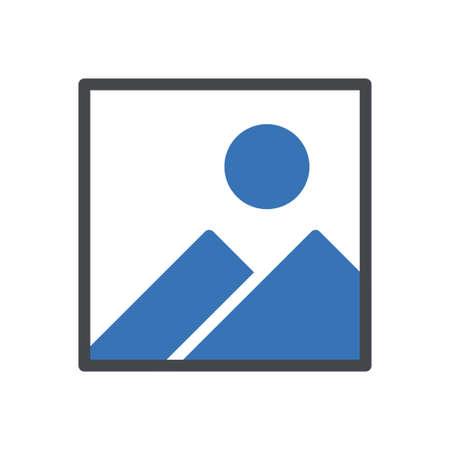 picture vector glyph color icon