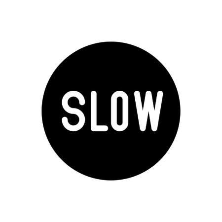 slow vector glyph flat icon
